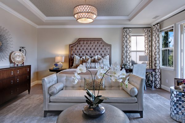 bedroom decorating ideas and designs Remodels Photos 27 Diamonds Interior Design Westminster California United States contemporary-bedroom