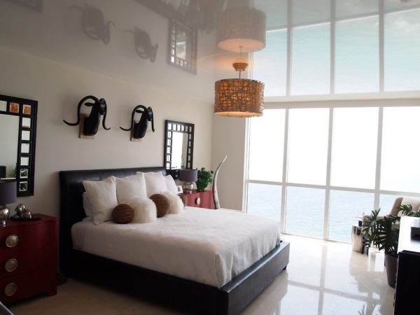 bedroom decorating ideas and designs Remodels Photos High Tech Ceiling Fort Lauderdale Florida United States modern-bedroom-001