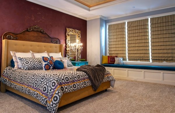 bedroom decorating ideas and designs Remodels Photos J. Gauker Interiors LLC Carmel Indiana United States mediterranean-bedroom