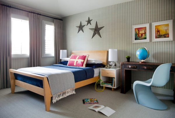 bedroom decorating ideas and designs Remodels Photos Peruri Design Company Los Altos California United States contemporary-kids