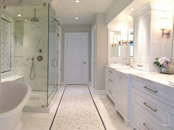 bathroom decorating ideas and designs Remodels Photos Lisa Oberst Design Hermosa Beach California traditional-bathroom