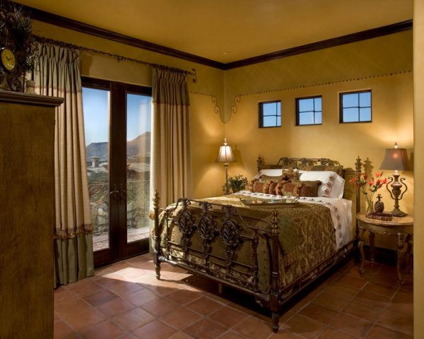 bedroom decorating ideas and designs Remodels Photos IMI Design, LLC Scottsdale Arizona United States mediterranean-bedroom-001