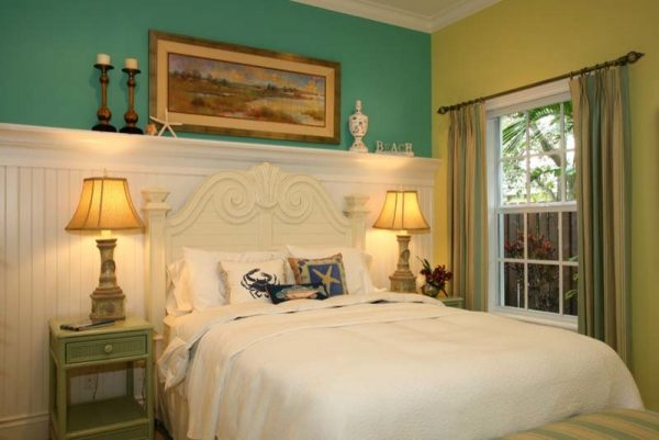 bedroom decorating ideas and designs Remodels Photos Joann's Interiors St Pete Beach Florida United States beach-style-bedroom