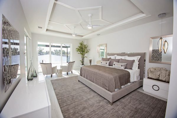 bedroom decorating ideas and designs Remodels Photos Lori Manning Designs Cape Cora Florida United States modern-bedroom
