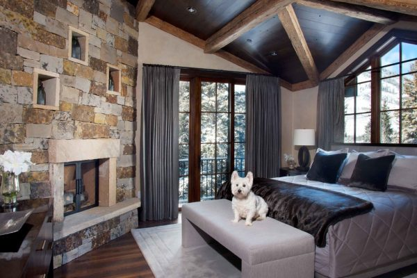 bedroom decorating ideas and designs Remodels Photos Slifer Designs Edwards Colorado United States rustic-living-room