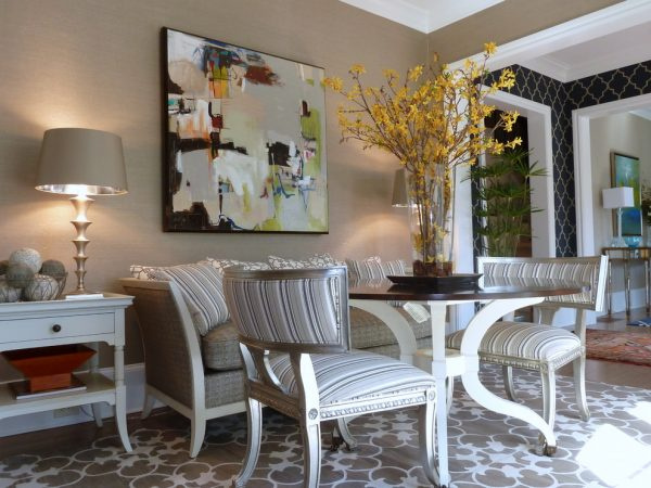 dining room decorating ideas and designs Remodels Photos Clark and Clark Interiors Charlotte North Carolina United States living-room