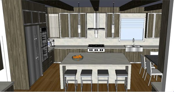 kitchen decorating ideas and designs Remodels Photos Ilene Chase Design Chicago Illinois United States rendering-001