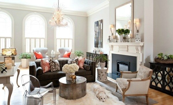 living room decorating ideas and designs Remodels Photos Hudson Interior Design Boston Massachusetts United Stateseclectic-living-room