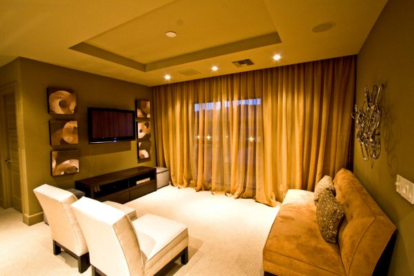 living room decorating ideas and designs Remodels Photos RIVER NORTH Las Vegas Nevada United States traditional-home-theater