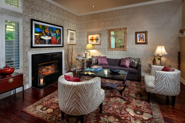 living room decorating ideas and designs Remodels Photos Roth Design Group Ltd Los Angeles California United States transitional-living-room