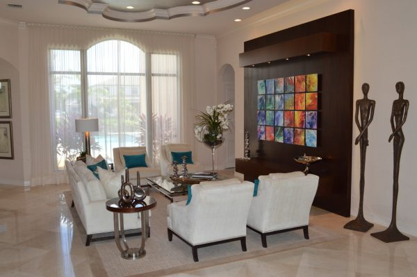 living room decorating ideas and designs Remodels Photos Veller-Welsh Interiors (VWI) Deerfield Beach Florida contemporary-living-room