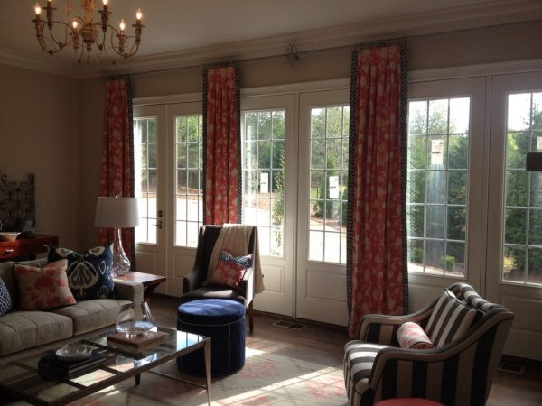 living room decorating ideas and designs Remodels Photos Window Works Studio, Inc Jamestown North Carolina United States transitional-curtains