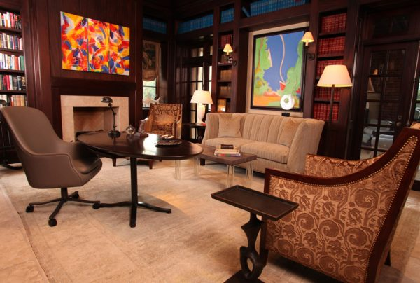 living room decorating ideas and designs Remodels Photos grettworks Houston Texas United States transitional-home-office