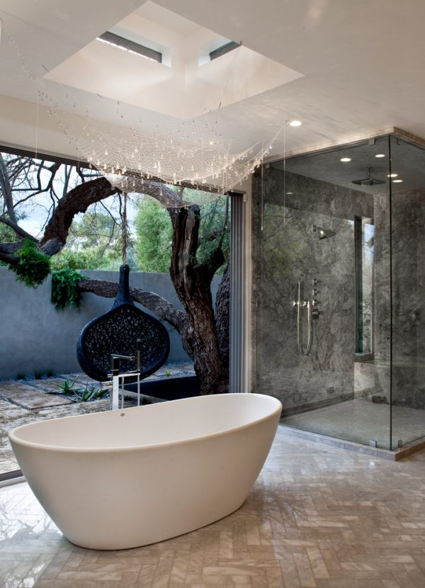 bathroom decorating ideas and designs Remodels Photos Marsha Cain Designs Scottsdale Arizona United States contemporary-bathroom