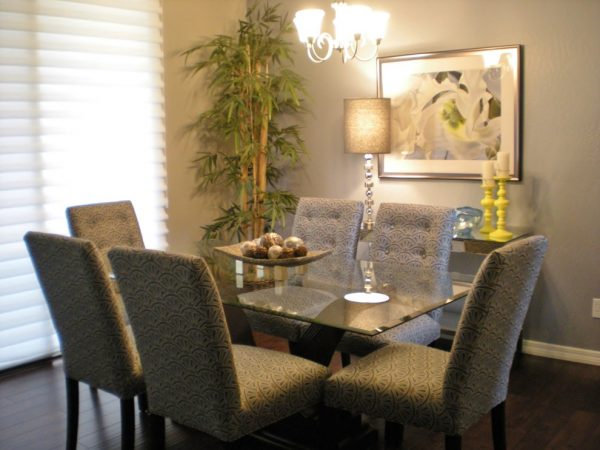 dining room decorating ideas and designs Remodels Photos Center Stage Interiors Skyline Arizona United States transitional-dining-room