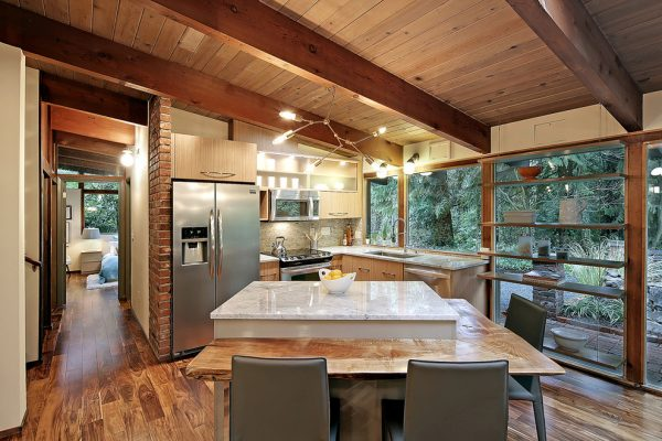 kitchen decorating ideas and designs Remodels Photos Seattle Home Enhancement Seattle Washington United States midcentury-kitchen