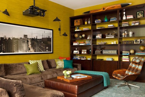 living room decorating ideas and designs Remodels Photos Chris Barrett Design Culver City California United States modern-home-theater