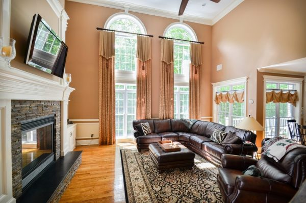 living room decorating ideas and designs Remodels Photos Curtain Call Woodbridge Connecticut United States traditional-family-room