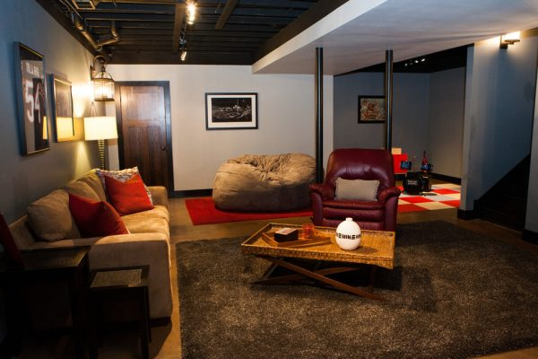 living room decorating ideas and designs Remodels Photos Danielle B. Interiors, Inc Elgin Illinois United States transitional-basement-003