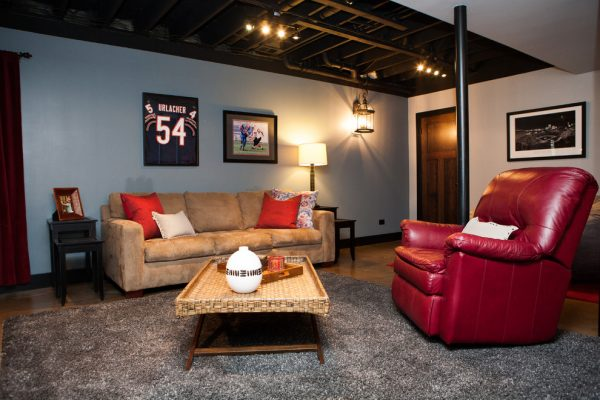 living room decorating ideas and designs Remodels Photos Danielle B. Interiors, Inc Elgin Illinois United States transitional-basement