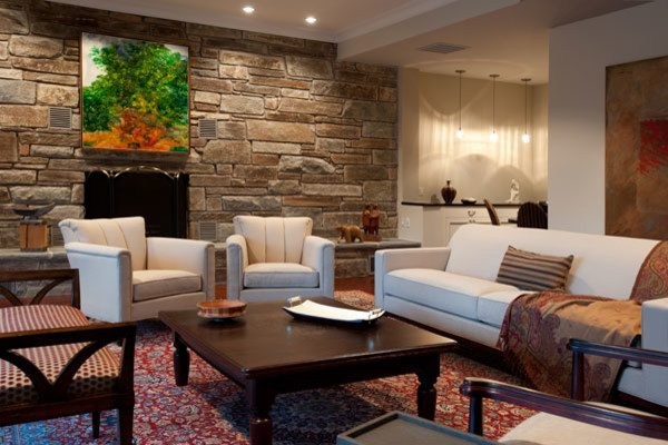 living room decorating ideas and designs Remodels Photos Danziger Design LLC Bethesda Maryland United States eclectic-family-room