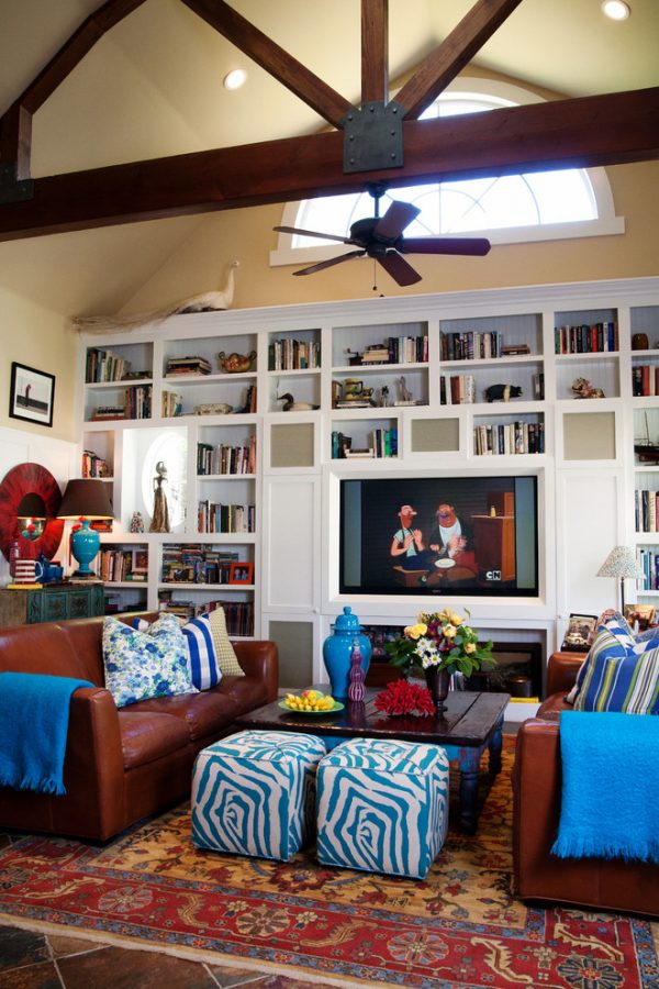 living room decorating ideas and designs Remodels Photos Darci Goodman Design Santa Ana California United States eclectic-family-room