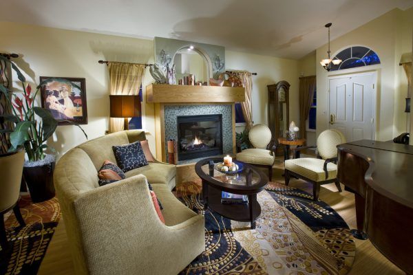 living room decorating ideas and designs Remodels Photos Design Brouelette Auburn California United States eclectic-living-room
