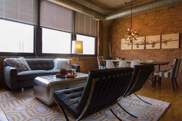 living room decorating ideas and designs Remodels Photos Design Inside - Chicago Chicago Illinois United States industrial-living-room