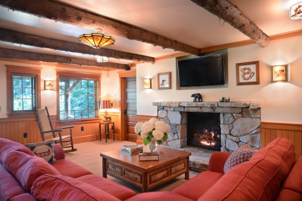 living room decorating ideas and designs Remodels Photos Elizabeth Guest Interiors, LLC Stanton New Jersey United States rustic-home-theater