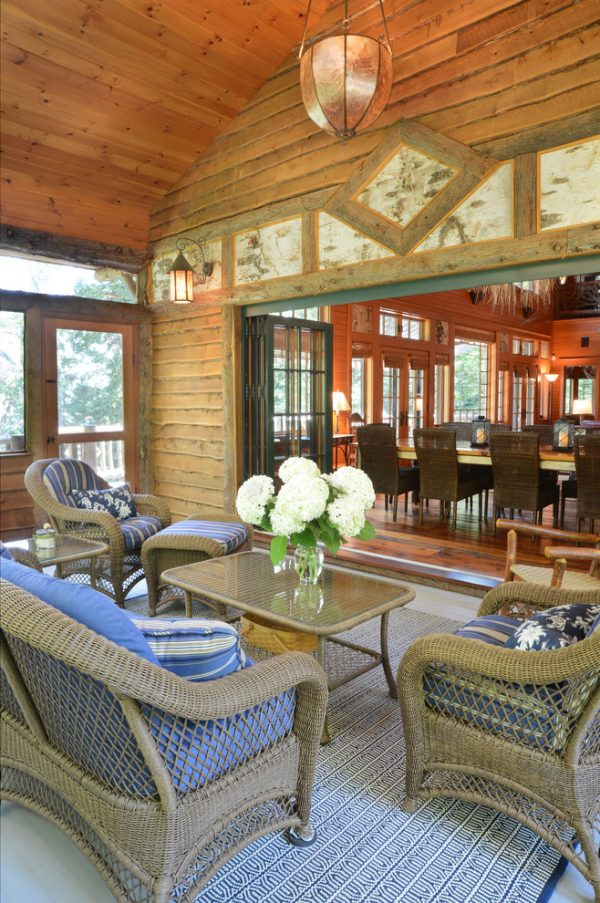 living room decorating ideas and designs Remodels Photos Elizabeth Guest Interiors, LLC Stanton New Jersey United States rustic-porch