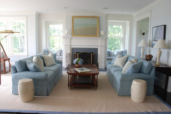 living room decorating ideas and designs Remodels Photos Elizabeth Home Decor & Design, Inc Chestnut Hill Massachusetts beach-style-living-room