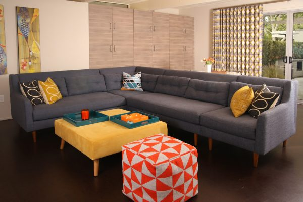 living room decorating ideas and designs Remodels Photos  GO2Design Studio Saratoga California United States midcentury-home-theater-001
