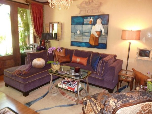 living room decorating ideas and designs Remodels Photos Get Back JoJo San Jose California United States eclectic-family-room