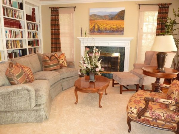 living room decorating ideas and designs Remodels Photos Get Back JoJo San Jose California United States traditional-living-room