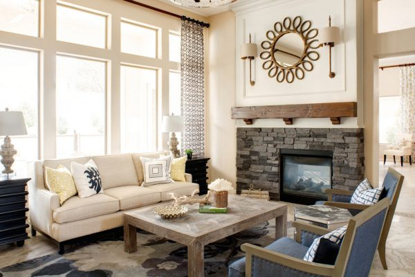 living room decorating ideas and designs Remodels Photos  J & J Design Group, LLC Scottsdale Arizona United States rustic-living-room