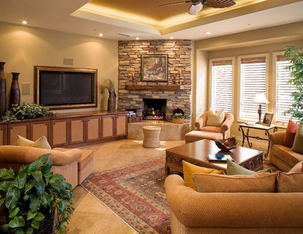 living room decorating ideas and designs Remodels Photos James Patrick Walters San Diego California United States contemporary-family-room