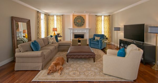 living room decorating ideas and designs Remodels Photos Jane Henderson for Davin Interiors Pittsburgh Pennsylvania transitional-family-room