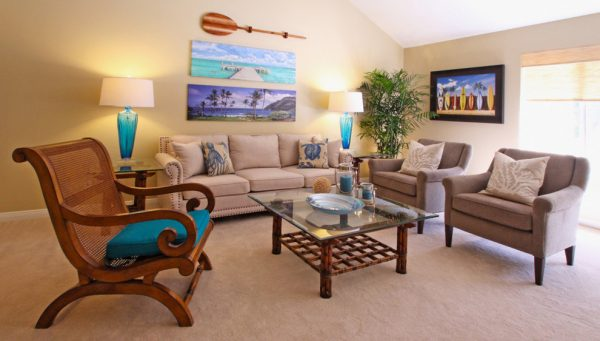living room decorating ideas and designs Remodels Photos Janice Peters, Distinctive Décor Thousand Oaks California beach-style-living-room
