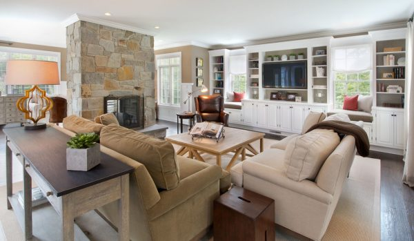 living room decorating ideas and designs Remodels Photos Julians Interiors Madison Connecticut United States eclectic-family-room