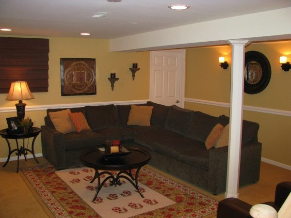 living room decorating ideas and designs Remodels Photos Kelly Brasch Interiors Cary Illinois United States traditional-basement