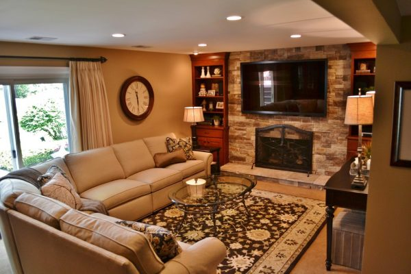 living room decorating ideas and designs Remodels Photos Kelly Brasch Interiors Cary Illinois United States traditional-family-room-002