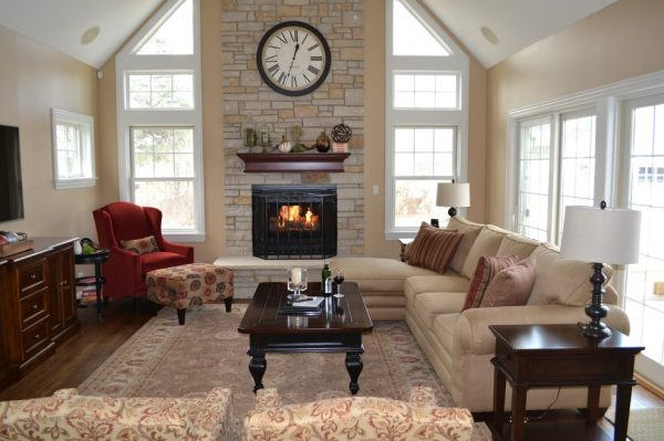living room decorating ideas and designs Remodels Photos Kelly Brasch Interiors Cary Illinois United States traditional-family-room