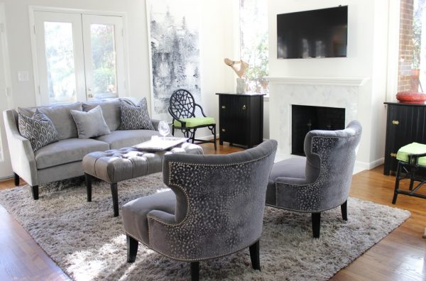 living room decorating ideas and designs Remodels Photos Leslie Williams Interior Design Waxhaw North Carolina United States eclectic-family-room