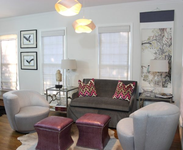 living room decorating ideas and designs Remodels Photos Leslie Williams Interior Design Waxhaw North Carolina United States eclectic-living-room