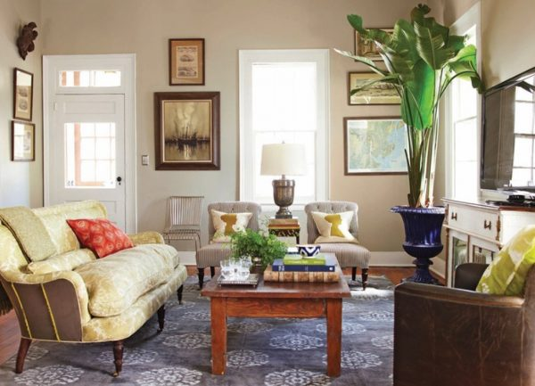 living room decorating ideas and designs Remodels Photos Linn Gresham Haute Décor Savannah Georgia United States traditional-living-room