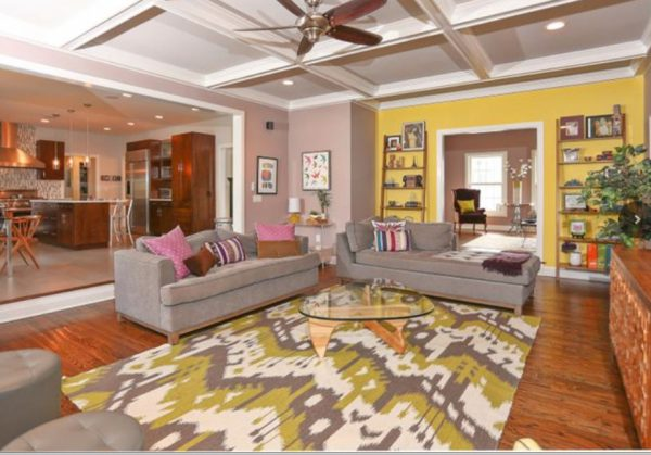 living room decorating ideas and designs Remodels Photos Lori Levine Interiors, Inc. Basking Ridge New Jersey United Stateseclectic-family-room-002