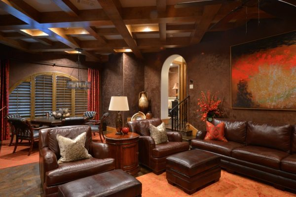 living room decorating ideas and designs Remodels Photos M2 Design Group Southlake Texas United States transitional-home-theater