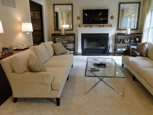 living room decorating ideas and designs Remodels Photos Rug & Home Gallery + Design Hawthorne New York United States contemporary-family-room