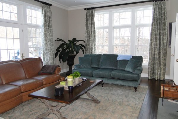 living room decorating ideas and designs Remodels Photos Rug & Home Gallery + Design Hawthorne New York United States family-room