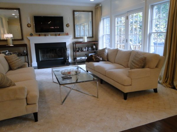 living room decorating ideas and designs Remodels Photos Rug & Home Gallery + Design Hawthorne New York United States transitional-family-room-001